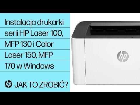 Instalacja drukarki serii HP Laser 100, MFP 130 i Color Laser 150, MFP 170 w Windows