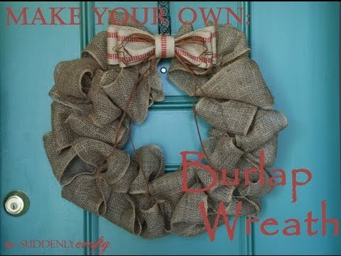 how to make burlap wreaths yahoo answers. Black Bedroom Furniture Sets. Home Design Ideas