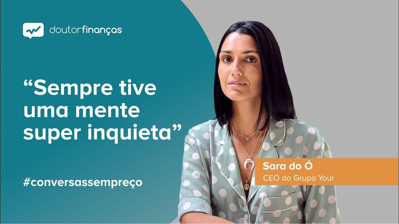 Imagem de um smartphone onde se vê o programa Conversas sem Preço com a entrevista a Sara do Ó, CEO do Grupo Your