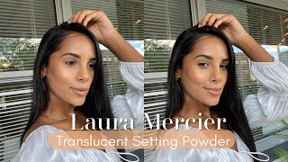 Testing Out The NEW Laura Mercier Translucent Loose Powder Honey