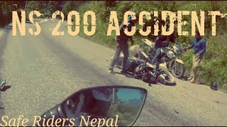 NS 200 Accident AND RoadRage L Safe Riders Nepal    # 35