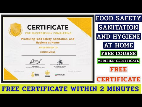 Free Online Certificate Course | Food Safety, Sanitation and ...