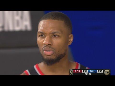 Damian Lillard 61 Pts vs Mavs! Blazers 8th Seed! 2020 NBA Restart