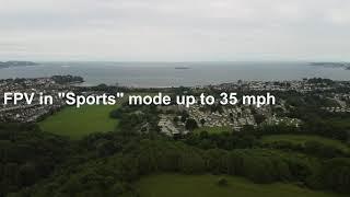 DJI Mini 2 in FPV mode over Roselands, Paignton, Devon