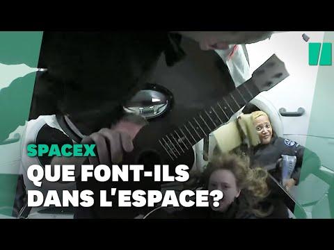Que font les touristes de Space X dans l'espace?