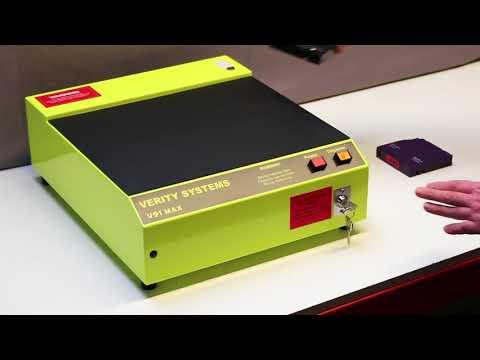 Video of the Verity V91 Max Hard Disk Drive and DLT Tape Eraser Shredder