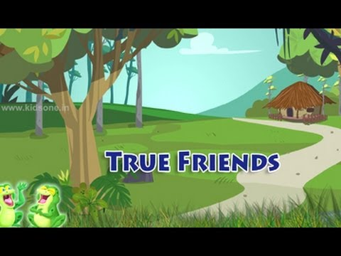 True Friends || English Moral Story For Kids