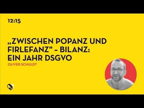 """JD19DE - """"Zwischen Popanz und Firlefanz"""" – Bilanz: ein Jahr DSGVO"""