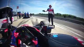 VISOR CAM // Graham Rahal At The 2018 Honda Indy Grand Prix Of Alabama Practice 3