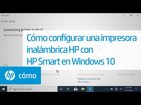 Cómo configurar una impresora inalámbrica HP con HP Smart en Windows 10