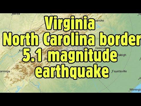 Earthquake: Magnitude 5.1 hits near Virginia North Carolina border