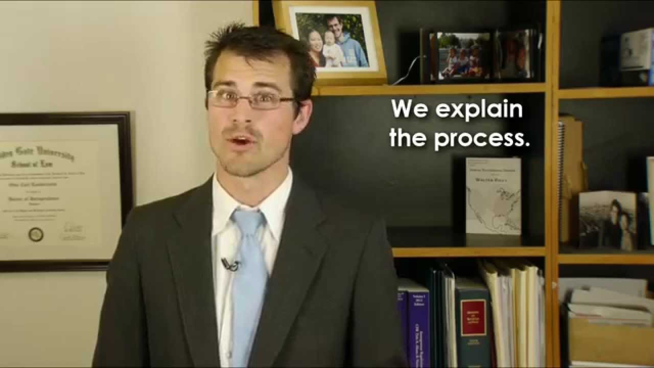 An attorney educates clients about his services
