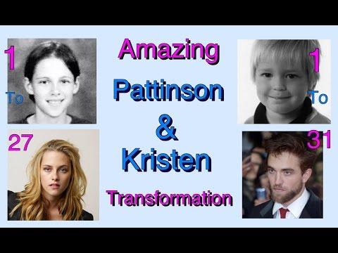Robert Pattinson And Kristen Stewart Amazing Transformation 2017 | From  1 to 31 Year Old.Don