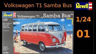 #EP01 - Volkswagen T1 Samba bus by Revell 1/24 (English subtitles)