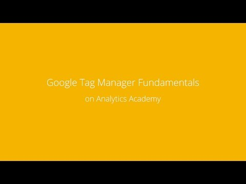 Welcome to Google Tag Manager Fundamentals - YouTube