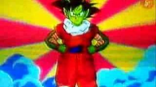 Mr. Satan  - (Dragon Ball) - fusiones de Goku con Dende y Goku con Mr. Satan