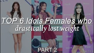 [PART 2] TOP 6 Idols Females Who Drastically Lost Weight ...
