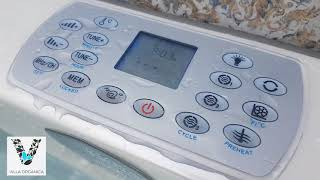 Villa Organica - how to operate the jacuzzi - an easy instruction
