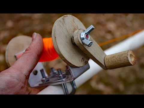 Homemade rod and reel fishing challenge!!!!
