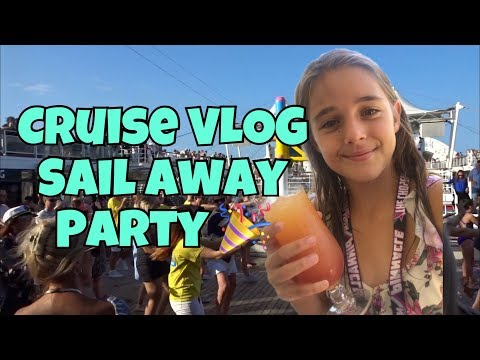 Cruise VLOG #2 – Sail Away Pary – P and O Pacific Dawn Cruise Ship 🚢