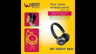 2855d1cb00b Bougt a new gadget  Ubon GBT-5605 Pure Stereo Wireless Bluetooth Headphone  with Mic