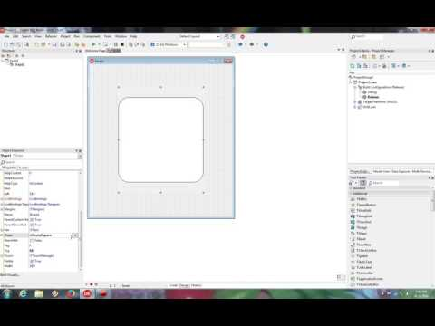 Delphi programming tutorial Tshape example
