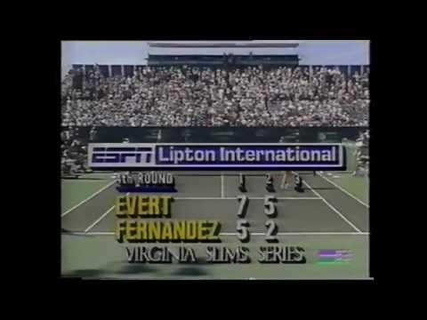 Chris Evert vs Mary Joe Fernandez 1989 Key Biscayne 3/3