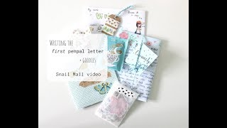 How To Write The First Penpal Letter + Goodies | Snail Mail Chats