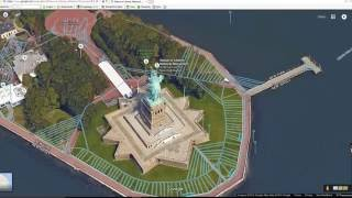 Video Dominion - Google Maps Exploration The Statue of Liberty in New York, USA