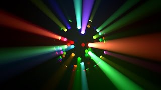 Colorful LED Disco Ball Light Rays Loop