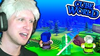 CUBE WORLD IS BACK!? 🌎 Scythe Plays Cube World Multiplayer #01