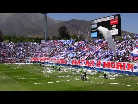 """BANDERAZO ""Volvimos a la cancha"" UC vs CC APERTURA 2016-17"" Barra: Los Cruzados • Club: Universidad Católica"
