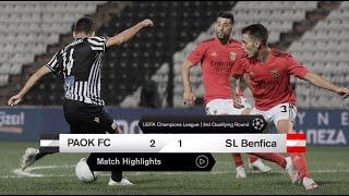 Τα στιγμιότυπα του ΠΑΟΚ-Μπενφίκα - PAOK TV