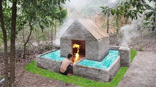 Build Big Heated Swimming Pool Aroud Roman House