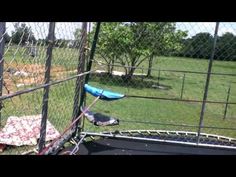 How to make a Trampoline wrestling ring,and Steel cage