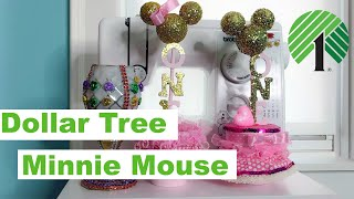 Dollar Tree DIY ||  Minnie Mouse Centerpiece For A Birthday Party