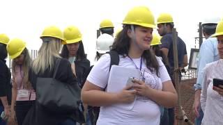 Obras da Nova Entrada de Santos viram sala de aula para estudantes de Engenharia Civil