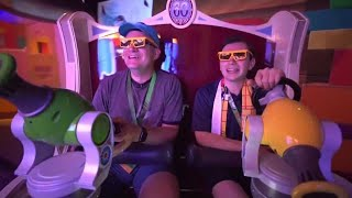 Toy Story Mania! FULL RIDE & queue in Toy Story Land at Walt Disney World