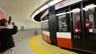 TTC 4403 Flexity Outlook LRV First Day Using Union Station Loop