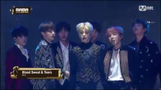 [MAMA 2016 Hongkong] BTS - 피 땀 눈물 (Blood, Sweat & Tears) with Lyrics