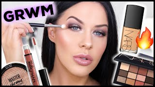 GET READY WITH ME!! LONG LASTING GLOWING MAKEUP (DEWY NOT OILY!)