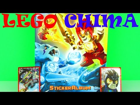 LEGO Chima Sticker Album & Pack Opening & Kids Review + Awesome Holographic Special Stickers