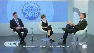 Bolsonaro é o entrevistado da Record TV