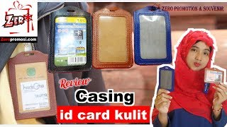 Review Casing id card kulit Card holder Leather