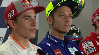 Press Conference Tension Between Marquez And Rossi   MotoGP™