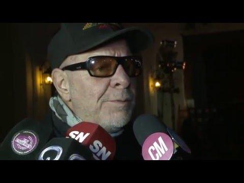 León Gieco video Entrevista con Víctor Heredia - Inauguración Fundación Mercedes Sosa