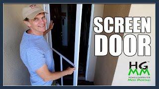 Installing a Home Depot Screen Door