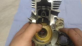 Stihl (штиль) Наглядный пример работы 2-х тактного двигателя.
