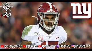 New York Giants I Early Mock drafts predict Jaylen Waddle to Giants at 11