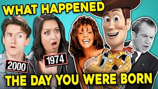 Teens, Adults & Elders React To The Day They Were Born (1940s, 1990s, 2000s)